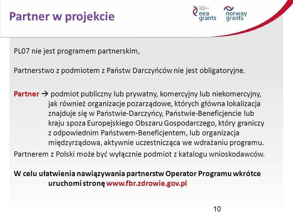Partner w projekcie PL07 nie jest programem partnerskim,