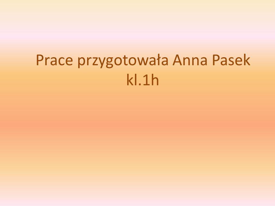 Prace przygotowała Anna Pasek kl.1h