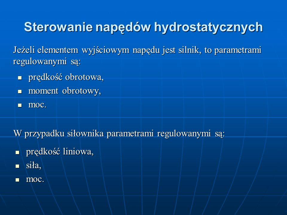 Sterowanie napędów hydrostatycznych