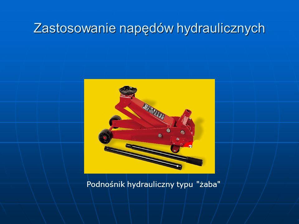 Zastosowanie napędów hydraulicznych