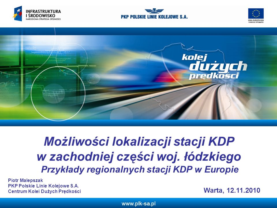 Możliwości lokalizacji stacji KDP w zachodniej części woj. łódzkiego