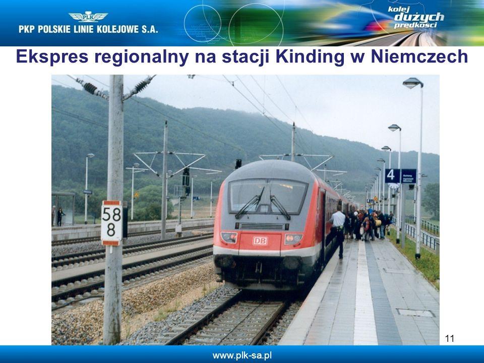 Ekspres regionalny na stacji Kinding w Niemczech