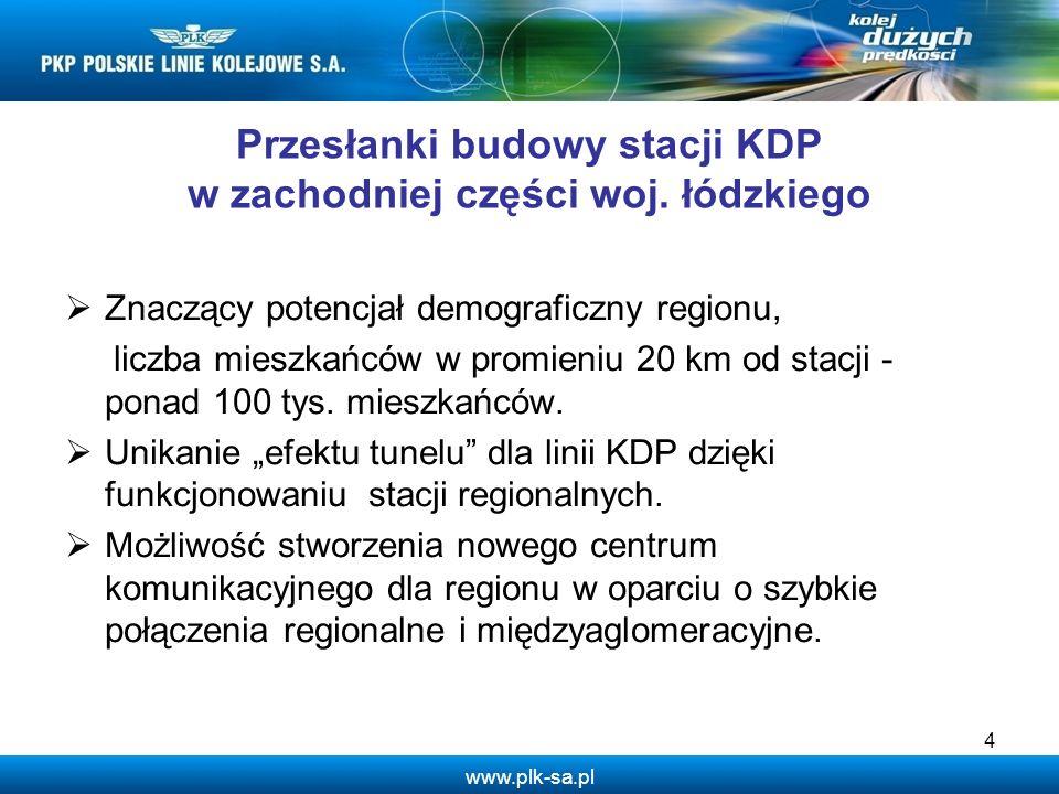 Przesłanki budowy stacji KDP w zachodniej części woj. łódzkiego