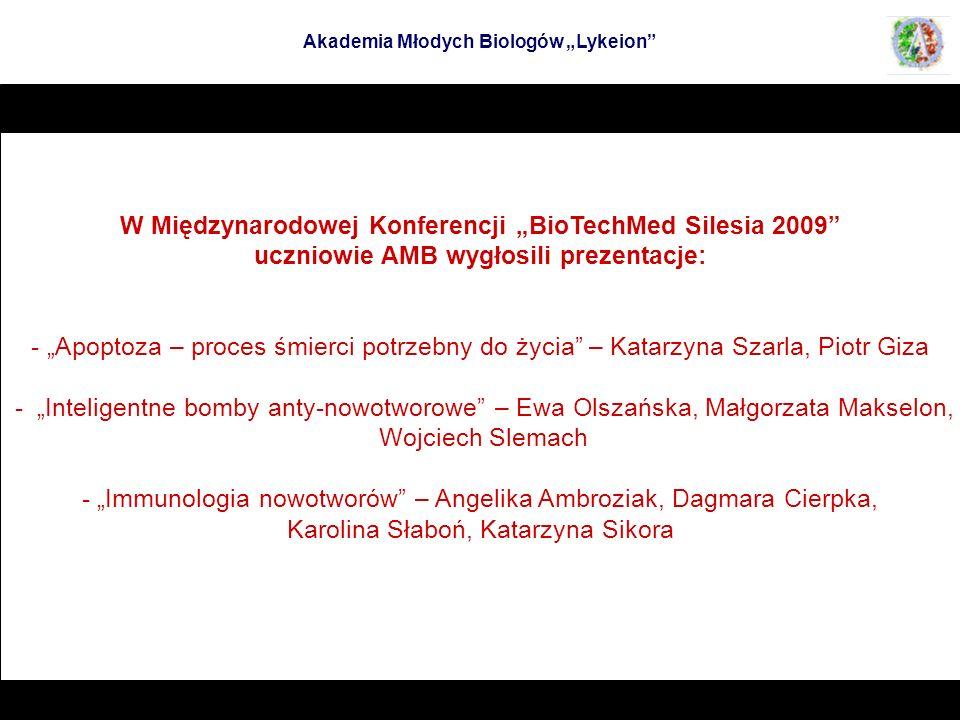"""W Międzynarodowej Konferencji """"BioTechMed Silesia 2009"""