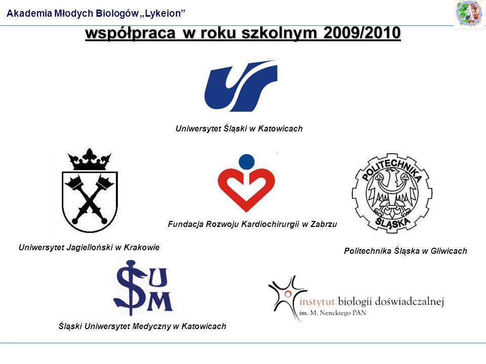 współpraca w roku szkolnym 2009/2010