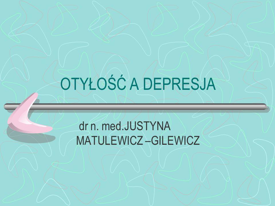 dr n. med.JUSTYNA MATULEWICZ –GILEWICZ