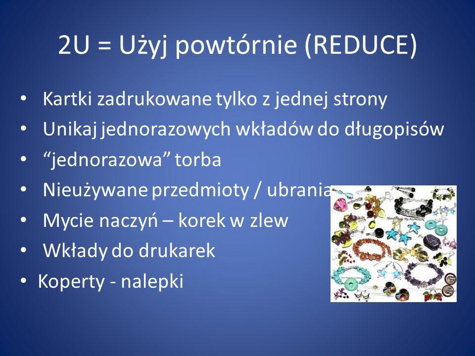 2U = Użyj powtórnie (REDUCE)
