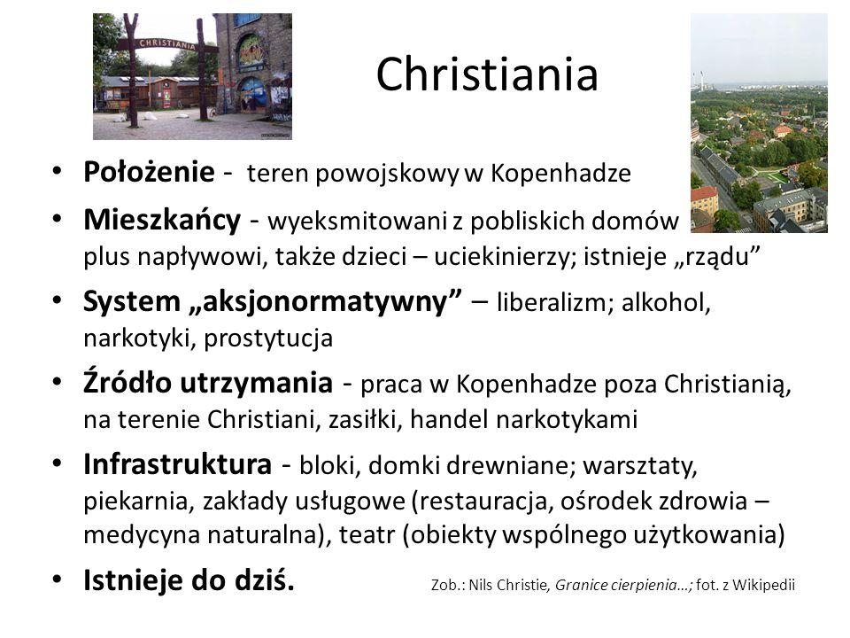 Christiania Położenie - teren powojskowy w Kopenhadze
