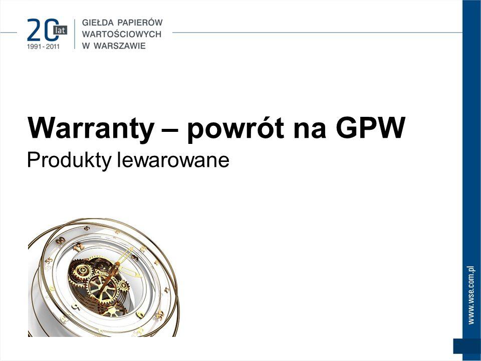 Warranty – powrót na GPW