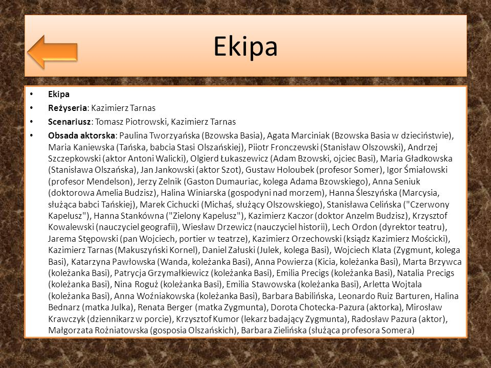 Ekipa Ekipa Reżyseria: Kazimierz Tarnas