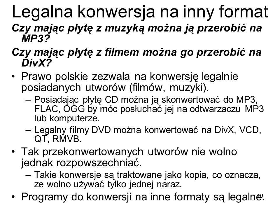 Legalna konwersja na inny format