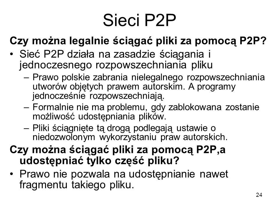 Sieci P2P Czy można legalnie ściągać pliki za pomocą P2P