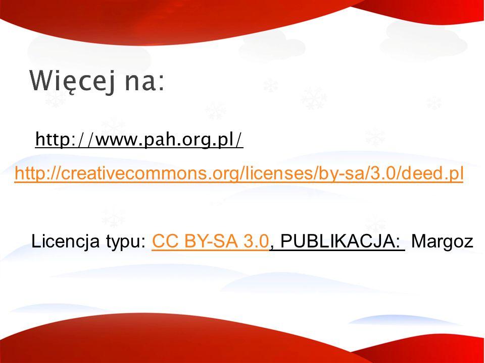 Licencja typu: CC BY-SA 3.0, PUBLIKACJA: Margoz
