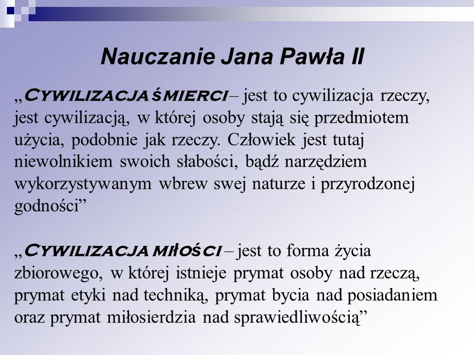 Nauczanie Jana Pawła II