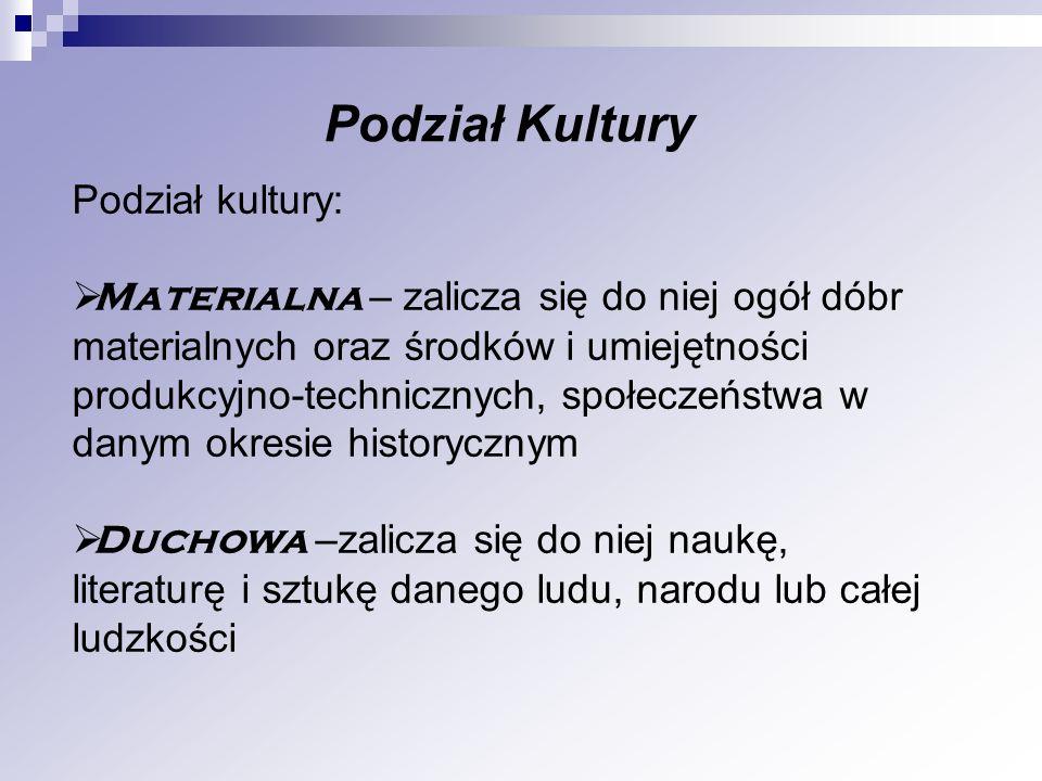 Podział Kultury Podział kultury:
