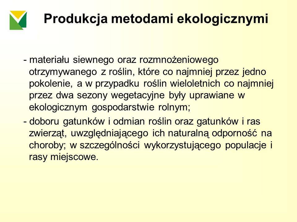 Produkcja metodami ekologicznymi