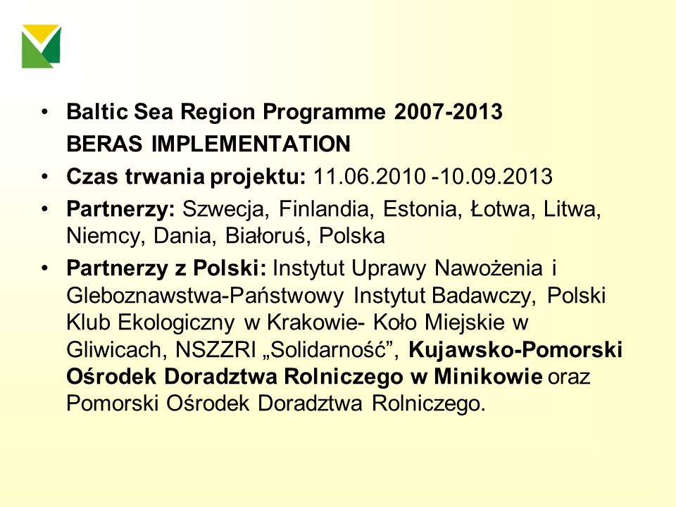 Baltic Sea Region Programme 2007-2013