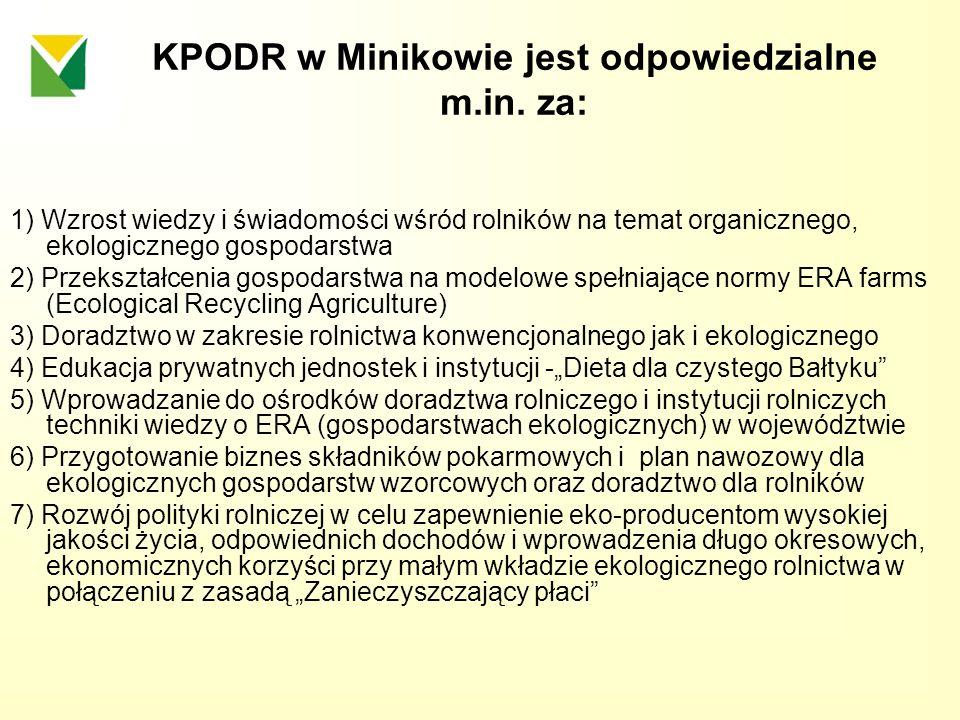 KPODR w Minikowie jest odpowiedzialne m.in. za: