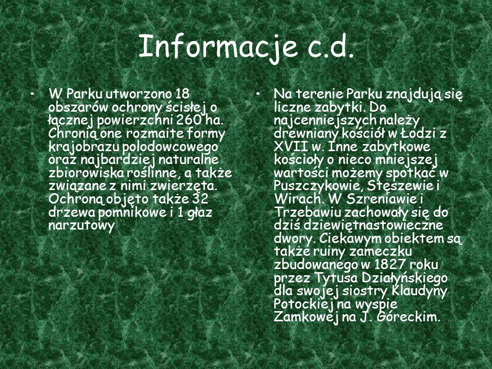 Informacje c.d.