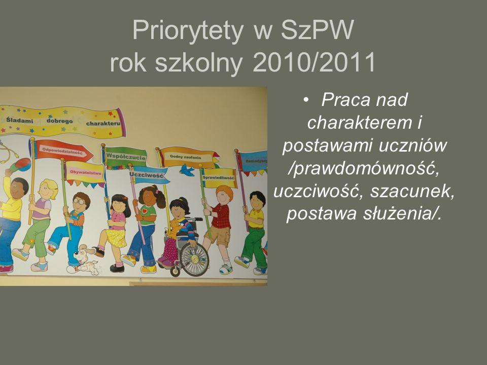 Priorytety w SzPW rok szkolny 2010/2011