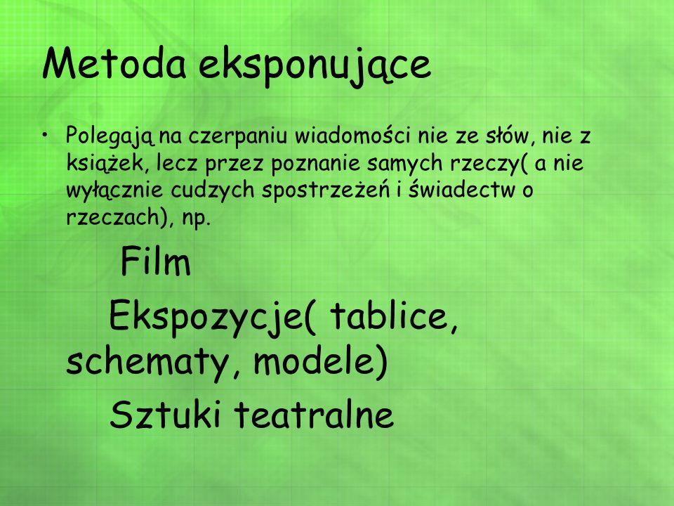 Metoda eksponujące Film Ekspozycje( tablice, schematy, modele)