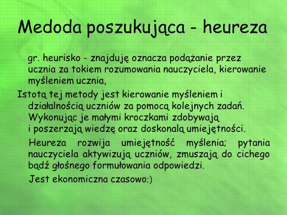 Medoda poszukująca - heureza