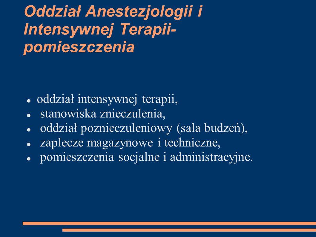 Oddział Anestezjologii i Intensywnej Terapii- pomieszczenia