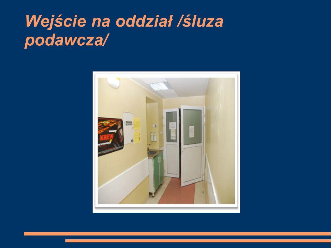 Wejście na oddział /śluza podawcza/