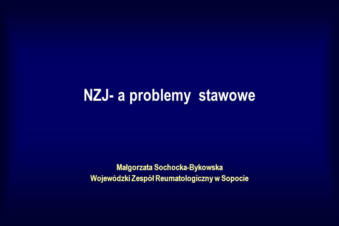 NZJ- a problemy stawowe