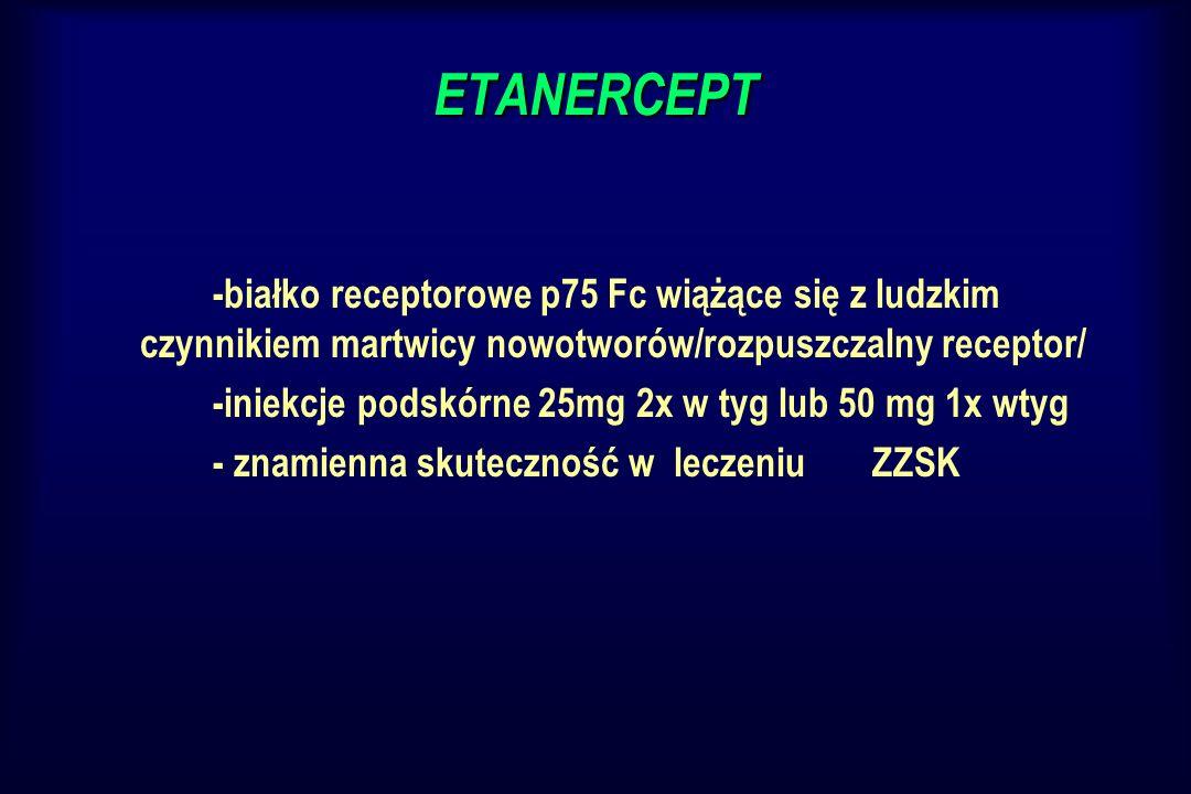 ETANERCEPT-białko receptorowe p75 Fc wiążące się z ludzkim czynnikiem martwicy nowotworów/rozpuszczalny receptor/