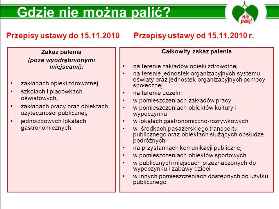 Przepisy ustawy do 15.11.2010 Przepisy ustawy od 15.11.2010 r.