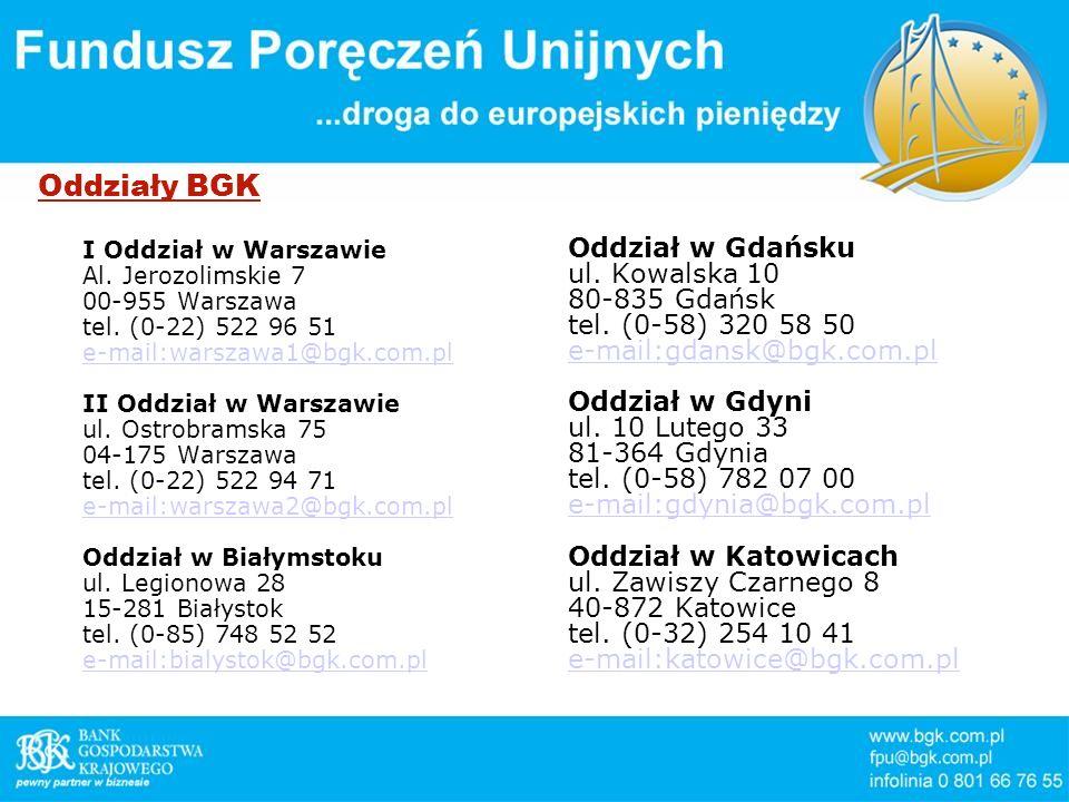 Oddziały BGK Oddział w Gdańsku ul. Kowalska 10