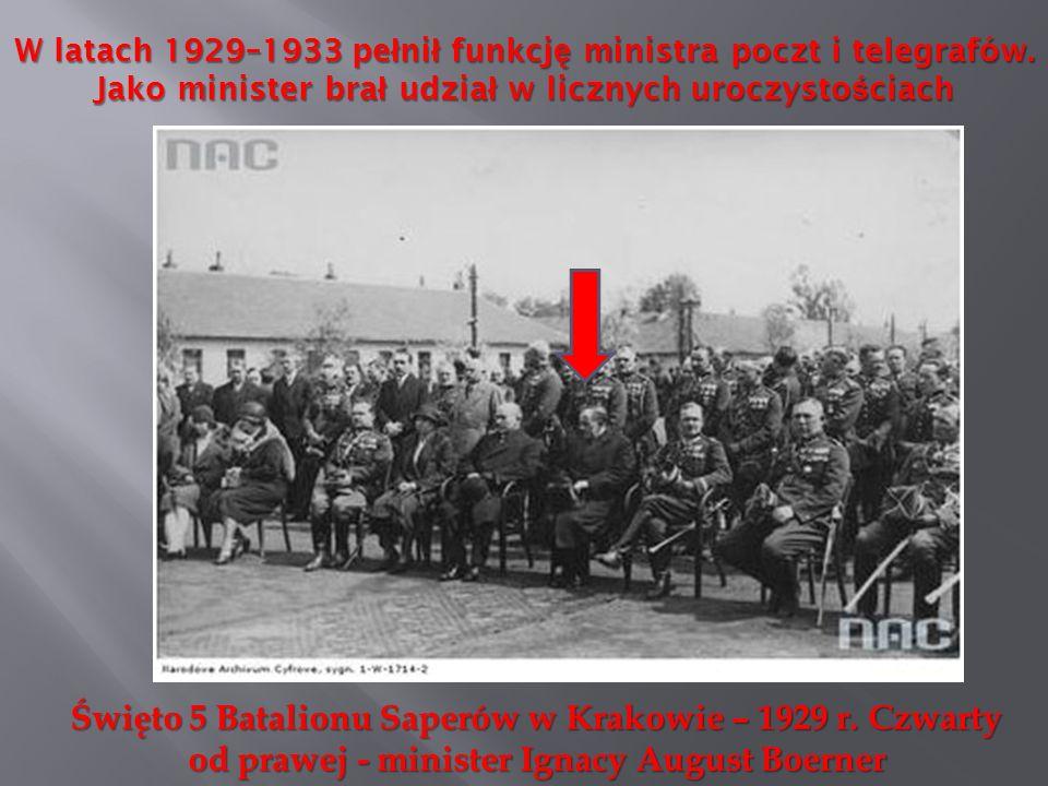 W latach 1929–1933 pełnił funkcję ministra poczt i telegrafów