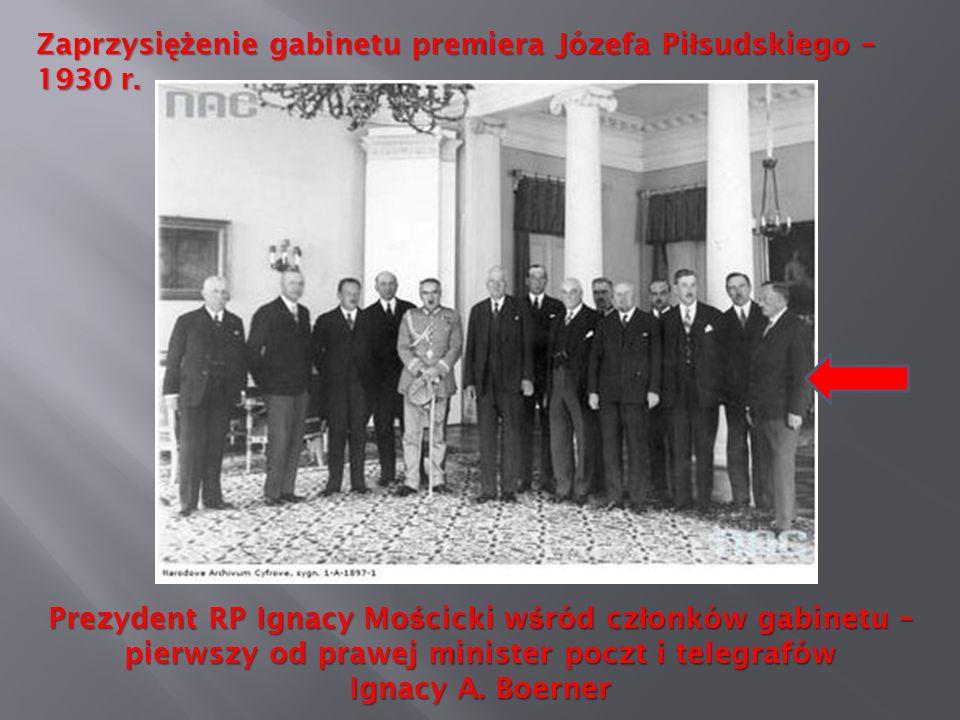 Zaprzysiężenie gabinetu premiera Józefa Piłsudskiego – 1930 r.