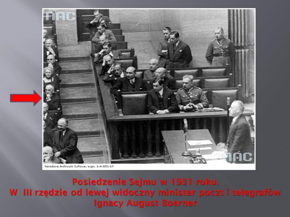 Posiedzenie Sejmu w 1931 roku.