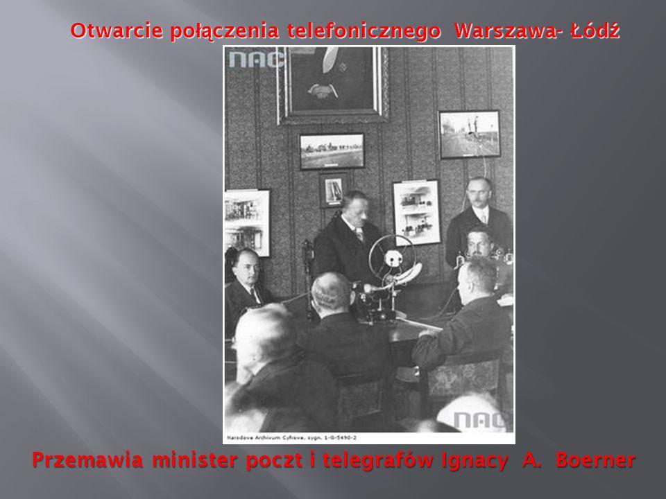 Otwarcie połączenia telefonicznego Warszawa- Łódź