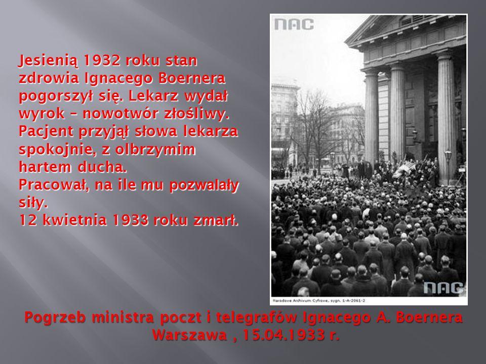 Pogrzeb ministra poczt i telegrafów Ignacego A. Boernera