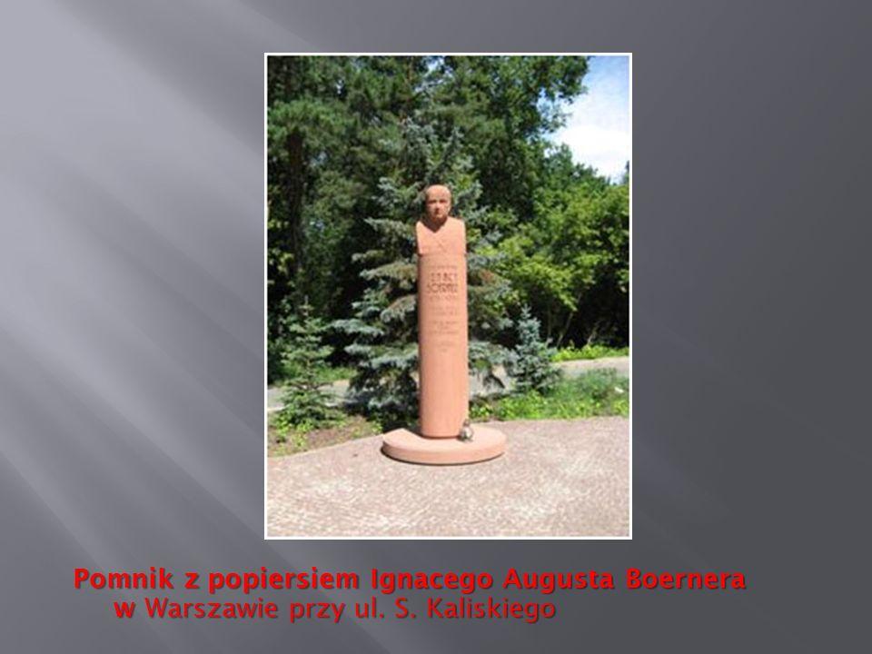 Pomnik z popiersiem Ignacego Augusta Boernera w Warszawie przy ul. S