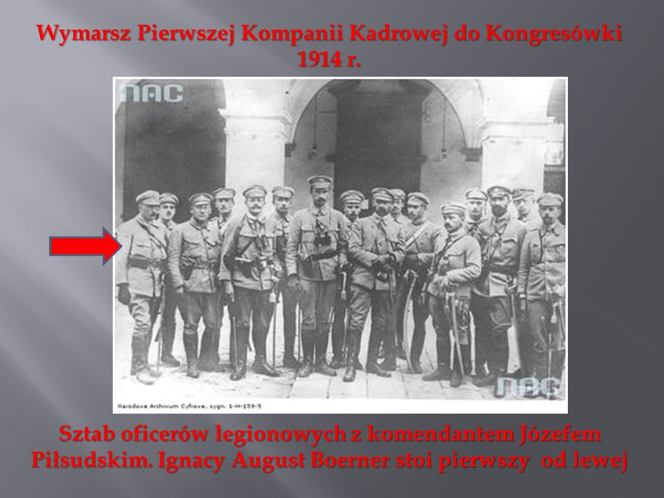 Wymarsz Pierwszej Kompanii Kadrowej do Kongresówki 1914 r.