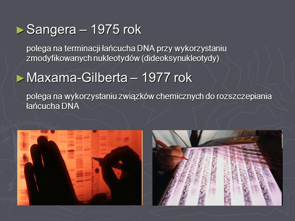 Sangera – 1975 rok Maxama-Gilberta – 1977 rok