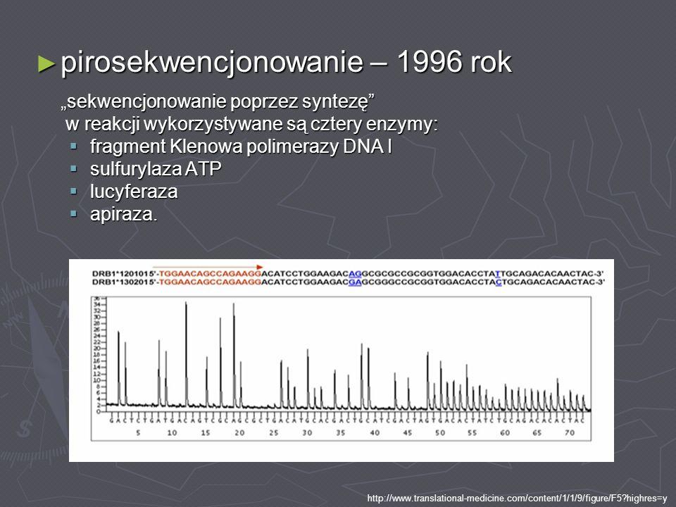 pirosekwencjonowanie – 1996 rok