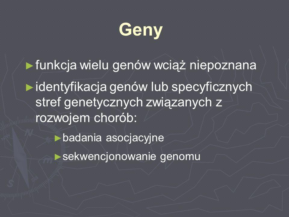Geny funkcja wielu genów wciąż niepoznana