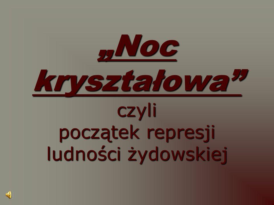 """""""Noc kryształowa czyli początek represji ludności żydowskiej"""
