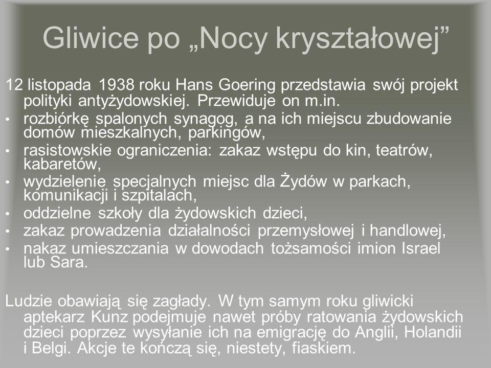 """Gliwice po """"Nocy kryształowej"""
