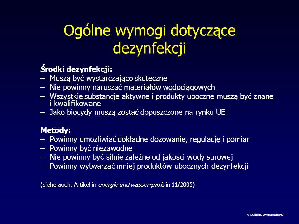 Ogólne wymogi dotyczące dezynfekcji