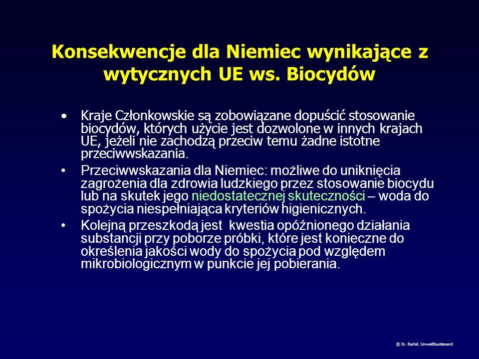 Konsekwencje dla Niemiec wynikające z wytycznych UE ws. Biocydów