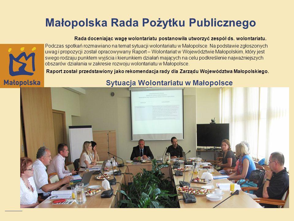 Sytuacja Wolontariatu w Małopolsce