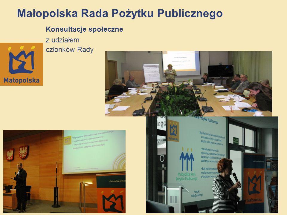 Małopolska Rada Pożytku Publicznego Konsultacje społeczne