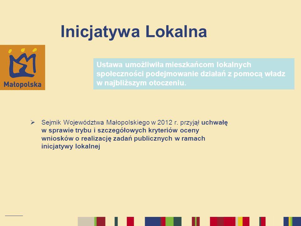 Inicjatywa LokalnaUstawa umożliwiła mieszkańcom lokalnych społeczności podejmowanie działań z pomocą władz w najbliższym otoczeniu.
