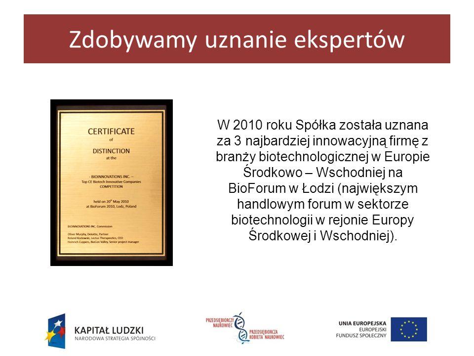 Zdobywamy uznanie ekspertów